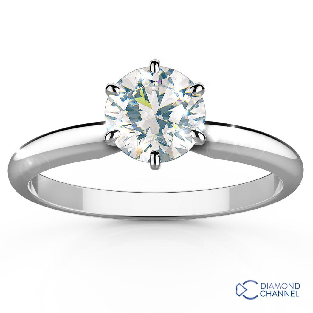 Solitaire Classic Six Claw Diamond Engagement Ring