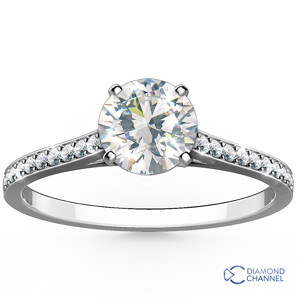 Contour Pave Set Side Stone Engagement