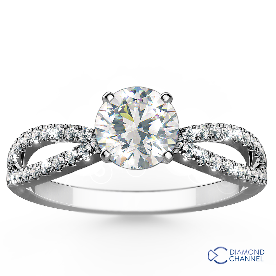Side Stones Engagement Ring