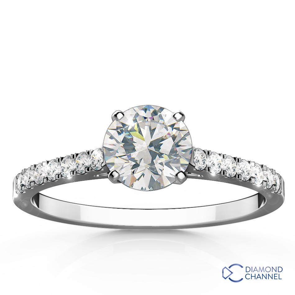Nouveau Diamond Engagement Ring