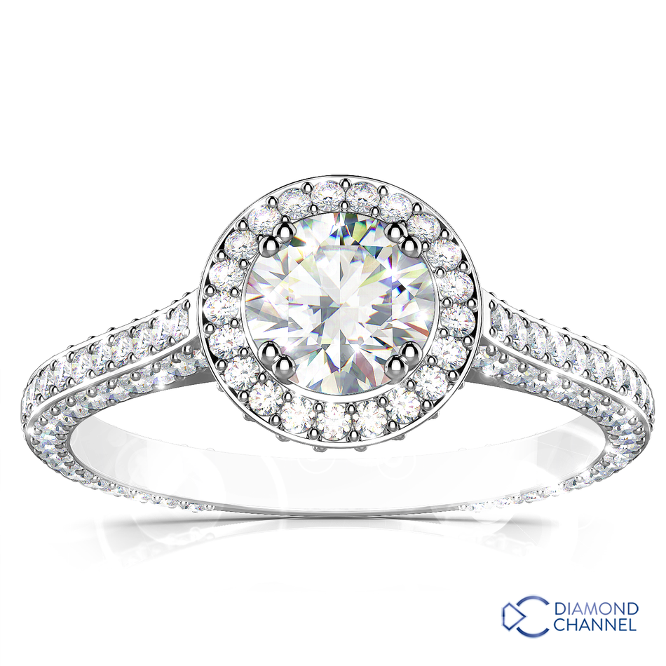 Heirloom Halo Micropavé Diamond Engagement Ring