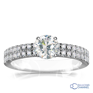 Double Pave Engagement Ring (0.7ct tw)
