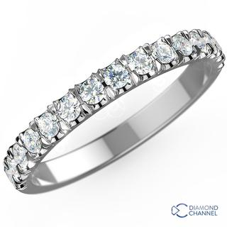 Scalloped Pave Diamond Ring In 9K White Gold (0.27ct. tw.)