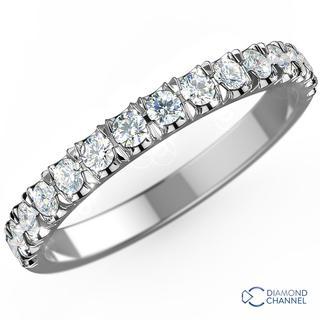 Scalloped Pave Half Eternity Diamond Ring (0.27ct TW*)