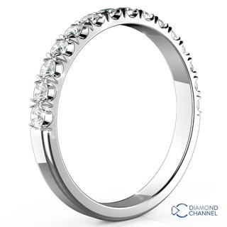 1462ee387 9k White Gold Scalloped Pave Diamond Ring In 9K White Gold (0.27ct. tw.)  R11,727.94