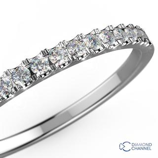 bf86536c6 9k White Gold Petite Cathedral Pave Diamond Ring in 9K White Gold (0.32ct tw)  R13,403.35