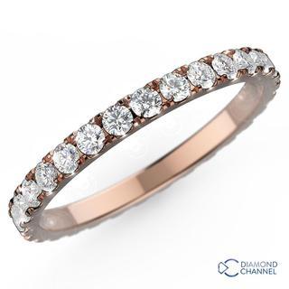 Nouveau Diamond Eternity Ring In 9K Gold (0.36ct tw)