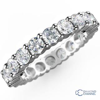 Diamond Eternity Ring In 9K White Gold(0.48ct tw)