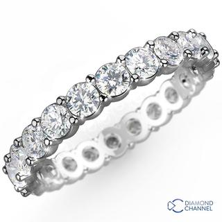 Classic Four Claw Eternity Wedding Ring in 9K White Gold (0.48 ct. tw.)
