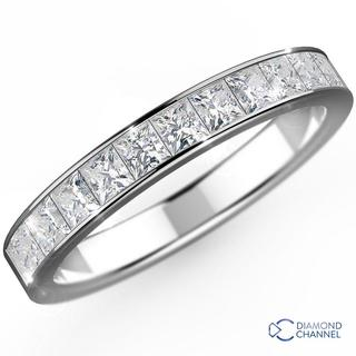 Channel Set Princess Half Eternity Ring (0.28ct TW*)