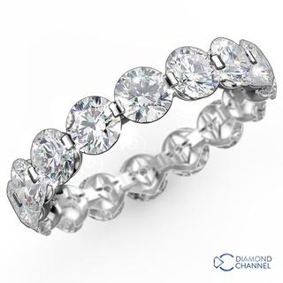 Floating Diamond Eternity Ring in 9K White Gold (1.00ct tw)