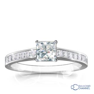 Princess Cut Engagement Ring (0.55ct tw)