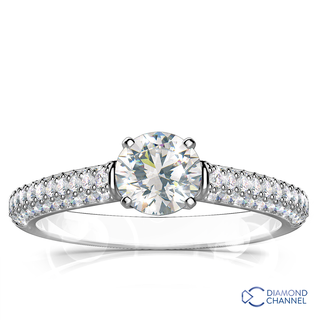 Micro Pave-Set Diamond Ring (0.61ct tw)