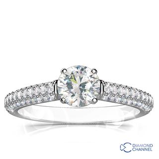 Micro Pave-Set Diamond Ring (0.61ct tw)