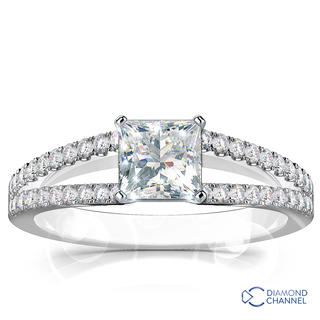 Split Shank Diamond Engagement Ring (0.73ct tw)