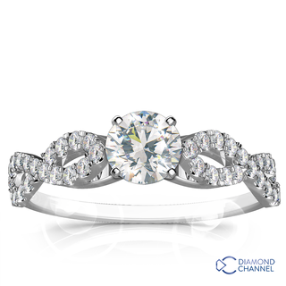 Infinity Twisted Engagement Ring (0.61ct tw)