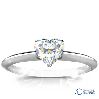 Heart Shape Solitaire Diamond Engagement Ring (1.19ct tw)