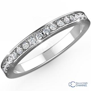 Cathedral Pave Diamond Ring in 9K White Gold (0.28ct tw)