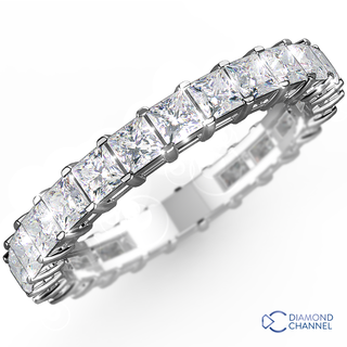 Princess Cut Diamond Eternity Ring In 18K White Gold (0.48ct tw)