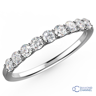 Belle Classic Diamond Ring in 9K White Gold (0.72ct tw)