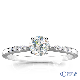 Petite Diamond Engagement Ring (055ct tw)