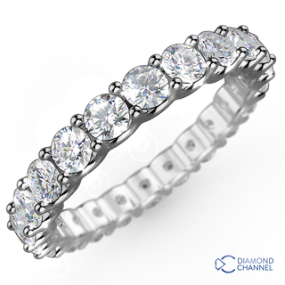 U Claw Eternity Diamond Ring in 18K White Gold (0.48ct tw)