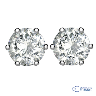 Diamond Stud Earrings in 9K White Gold (0.64ct tw.) )