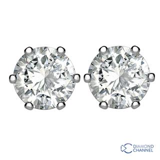 Diamond Stud Earrings in 9K White Gold (0.64ct tw.) )