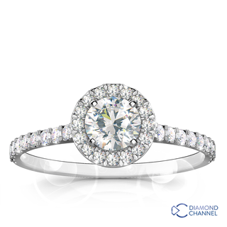 Halo Floating Diamond Ring (0.86ct tw)