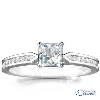 Sidestone Engagement Ring (0.64ct tw)