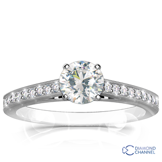 Pave Set Diamond Engagement Ring (0.78ct tw)
