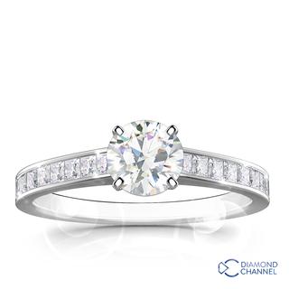 Round Brilliant Cut Engagement Ring (0.59ct tw)