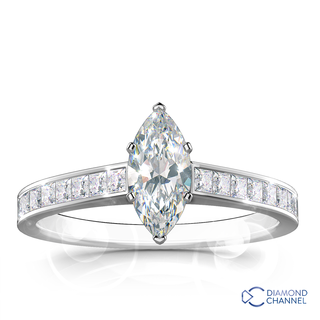Marquise Cut Engagement Ring (0.60ct tw)