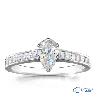 Pear Cut Engagement Ring (0.69ct tw.)