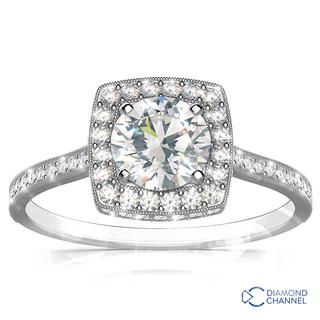 Halo Diamond Engagement Ring (1.11ct tw)