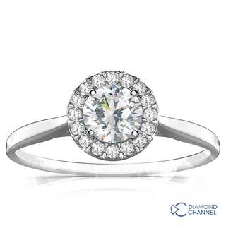 Solitaire Round Cut Diamond Engagement Ring (0.46ct tw)
