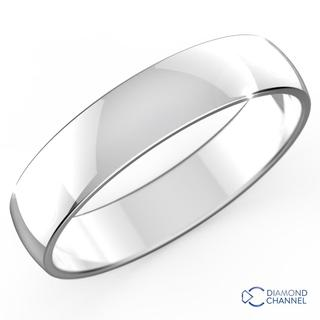 Classic Wedding Ring In 9k White Gold (4mm)