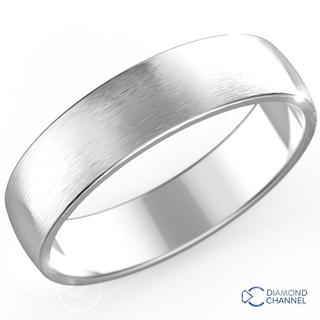 Matte Classic Wedding Ring In 9k White Gold (5mm)