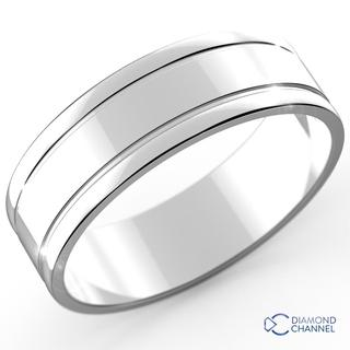 Carved Comfort Fit Wedding Ring (7mm)