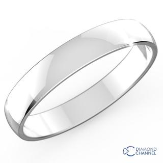 Classic Wedding Ring In 9K White Gold (3mm)