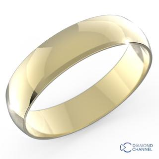 Comfortable Mid Weight Wedding band In 9k Yellow Gold (5mm)