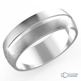 Single Groove Comfort Fit Wedding Ring (7mm)