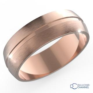 7mm Single Groove Comfort Fit Wedding Ring