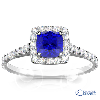 Tanzanite And Micro-Pave Diamond Ring(1.5ct tw)