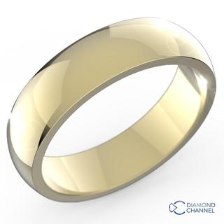 Comfort fIt Wedding Ring In 9K Yellow Gold (5mm)