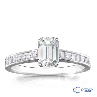 Emerald Cut Engagement Ring (0.57ct tw.)