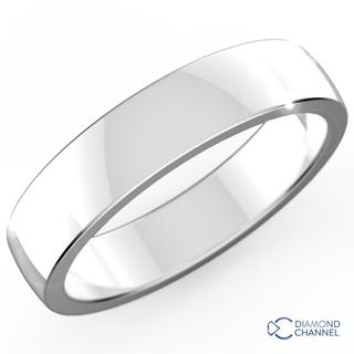 Low Dome Comfort Fit Wedding Ring In 9k White Gold (6mm)