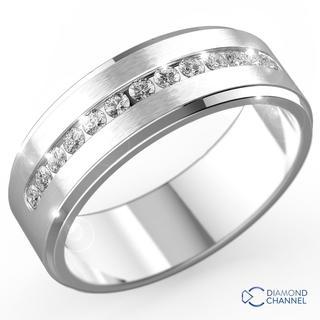Diamond Stepped Edge Channel Set Wedding Ring (0.325ct TW*)