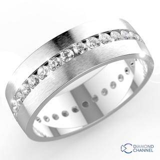 Channel-Set Diamond Wedding Ring iN 9k White Gold(0.35ct tw)6mm