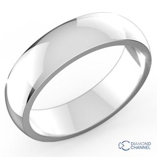 Comfort Fit Wedding Ring In 9K White Gold (5mm)